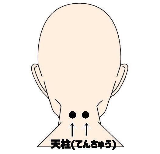 頭皮をツボを意識したマッサージ・てんちゅう